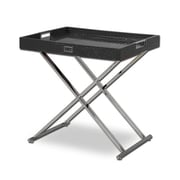 VIG Furniture A&X Cecilia Crocodile Tray Table; Black