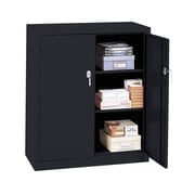 OfficeSource Budget Series 2 Door Storage Cabinet; Black