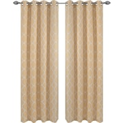 Popular Bath Products Kimberly Curtain Panel (Set of 2); Gold