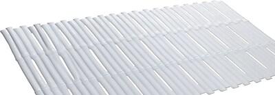 Carnation Home Fashions Bamboo Rayon Look Vinyl Bath Tub Mat; White WYF078278311877