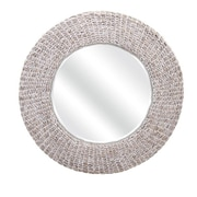 Woodland Imports Madiera Waterhyacinth Wall Mirror