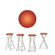 Best of Times 30'' Bar Stool with Cushion (Set of 4)