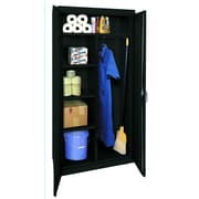 OfficeSource Deluxe 2 Door Storage Cabinet; Black