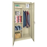 OfficeSource Deluxe 72''H x 36''W x 18''H D 2 Door Storage Cabinet; Putty