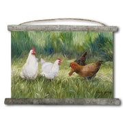 WGI GALLERY 'The Girls Chickens' Painting Print on White Canvas