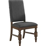 Kingstown Home Kingsley Side Chair (Set of 2); Dark Gray