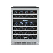 Titan Products, LLC 46 Bottle Dual Zone Built-In Wine Refrigerator; Left