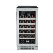 Titan Products, LLC 25 Bottle Single Zone Built-In Wine Refrigerator; Left