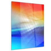 DesignArt Metal '3D Mix of Red Blue Yellow' Graphic Art; 12'' H x 28'' W