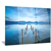 DesignArt Metal 'Deep into the Sea Pier' Photographic Print; 12'' H x 28'' W