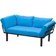 Merax Futon and Mattress; Blue