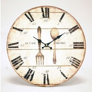 NewViewGiftsandAccessories Oversized 13.13'' Fork and Spoon Wall Clock