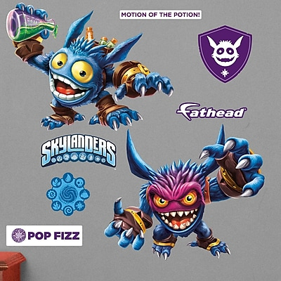Fathead Skylanders Activision - Pop Fizz Junior Peel and Stick Wall Decal WYF078278047785