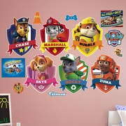 Fathead Nickelodeon PAW Patrol Shields Peel and Stick Wall Decal