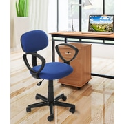 Merax 15'' Mesh Office Task Chair with Arm; Navy