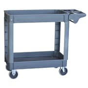 Buffalo Tools Pro Series 2 Shelf Heavy Duty Utility Cart; L: 33.25'' x 17.5'' x 39.75''