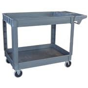 Buffalo Tools Pro Series 2 Shelf Heavy Duty Utility Cart; XL: 33.25'' x 25.5'' x 45''