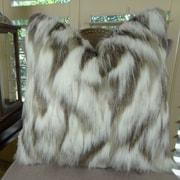 Plutus Brands Tibet Fox Handmade Faux Throw Pillow; 26'' H x 26'' W