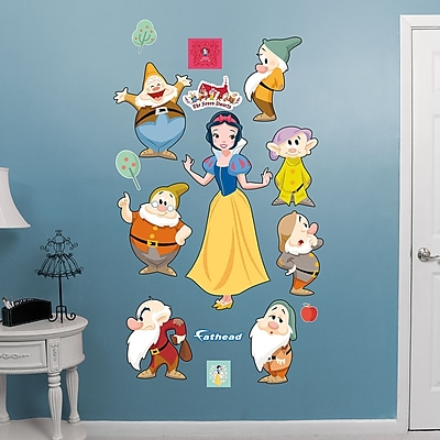 Fathead Disney - Snow White and 7 Dwarfs - Classic Tales Peel and Stick Wall Decal WYF078278047591