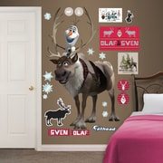 Fathead Disney Frozen - Sven and Olaf Peel and Stick Wall Decal