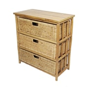 Heather Ann Open Sides Cabinet with 3 Drawers
