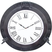 Handcrafted Nautical Decor Br Deluxe Class Porthole Clock; Oil Rubbed Bronze