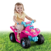 Fisher-Price Power Wheels Barbie Lil' Quad 6V Battery Powered ATV
