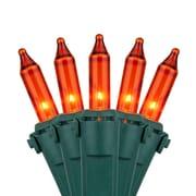 Kringle Traditions 50 Mini Lights 4'' Lead; Amber