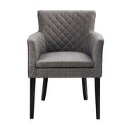 Madison Park Rochelle Arm Chair; Charcoal / Black Noir