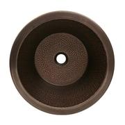 Whitehaus Collection Copperhaus Round Drop-In/Undermount Basin; Hammered Bronze