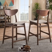 Wholesale Interiors Baxton Studio 23.5'' Bar Stool (Set of 2)