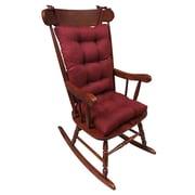 Klear Vu Omega 2 Piece Rocking Chair Cushion; Flame