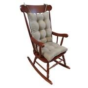 Klear Vu Omega 2 Piece Rocking Chair Cushion; Platinum