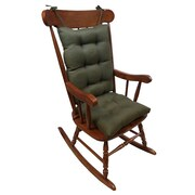 Klear Vu Omega 2 Piece Rocking Chair Cushion; Evergreen