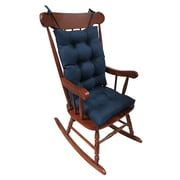 Klear Vu Omega 2 Piece Rocking Chair Cushion; Indigo