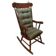 Klear Vu Omega 2 Piece Rocking Chair Cushion; Sage