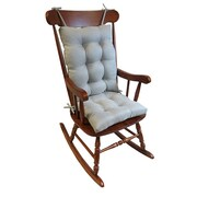 Klear Vu Omega 2 Piece Rocking Chair Cushion; Gray