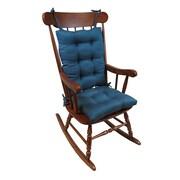 Klear Vu Omega 2 Piece Rocking Chair Cushion; Aqua