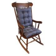 Klear Vu Omega 2 Piece Rocking Chair Cushion; Grapemist