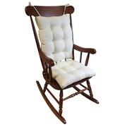 Klear Vu Omega 2 Piece Rocking Chair Cushion; Ivory