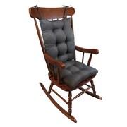 Klear Vu Omega 2 Piece Rocking Chair Cushion; Chestnut