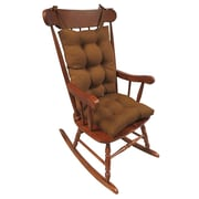 Klear Vu Omega 2 Piece Rocking Chair Cushion; Pumpkin