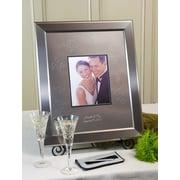 SignatureKeepsakes Personalized Titanium Guest Book Frame; Horizontal