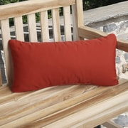 Mozaic Company Knife Edge Indoor Outdoor Sunbrella Lumbar Pillow (Set of 2); Jockey Red