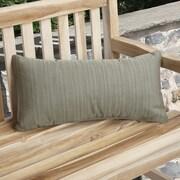 Mozaic Company Knife Edge Indoor Outdoor Sunbrella Lumbar Pillow (Set of 2); Laurel