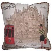 DaDa Bedding Postcard of Milan Woven  Cushion Cover