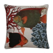 Thro by Marlo Lorenz Coastal Fish Printed Throw Pillow