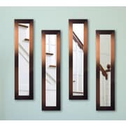 Rayne Mirrors Molly Dawn Shiny Bronze Mirror Panels (Set of 4); 33.5'' H x 7.5'' W x 0.75'' D