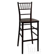 Midas Event Supply Legacy Bar Stool; Fruitwood