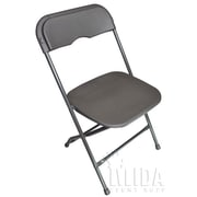 Midas Event Supply Champ Folding Chair; Charcoal Gray